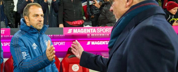 Bayern Munich coach Hansi Flick. Picture: @FCBayernEN/Twitter.