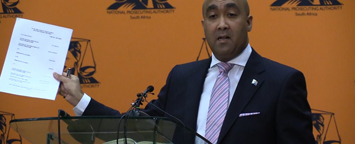 NPA head Shaun Abrahams has instructed his team to appeal the Preoria High Court's Zuma spy tapes ruling. Picture: Vumani Mkhize/EWN.