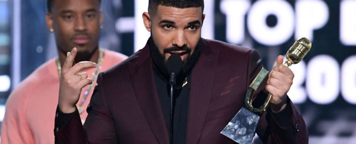 Drake accepts the Top Billboard 200 Album award for 'Scorpion' onstage during the 2019 Billboard Music Awards at MGM Grand Garden Arena on 1 May, 2019 in Las Vegas, Nevada. Picture: AFP