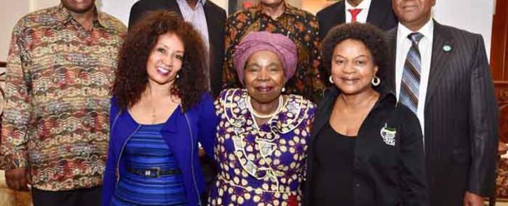 President Jacob Zuma (back centre) hosted a meeting of the ANC's top leadership candidates, namely Zweli Mkhize, Cyril Ramaphosa, Mathews Phosa, Jeff Radebe, Lindiwe Sisulu, Nkosazana Dlamini Zuma, and Baleka Mbete on 23 November 2017. Picture: MyANC/Facebook