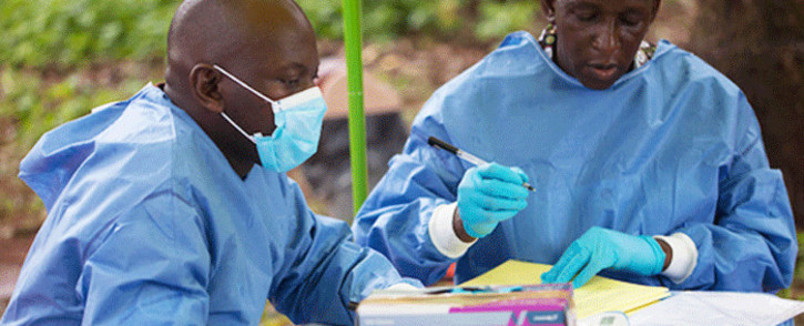 Health workers who facilitate Ebola vaccinations. Picture: WHO.