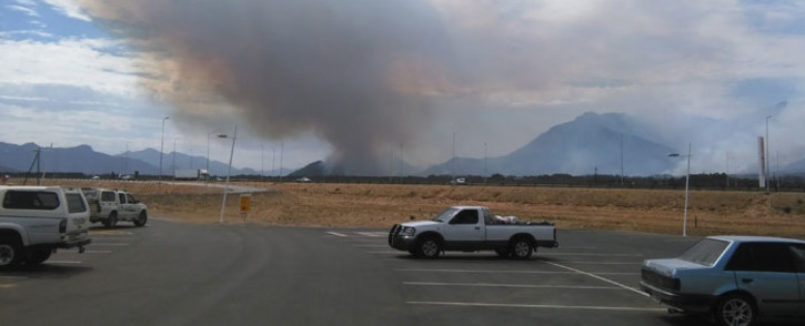 The fire has scorched some vineyards between Wolseley and Worcester. Picture: Sarp Sozeri/iWitness