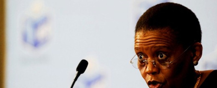 FILE: IEC Chairperson Pansy Tlakula addresses farm workers in Benoni, Johannesburg, 22 January 2014. Picture: Sapa.