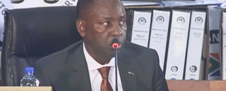 FILE: A screenshot of Mosebenzi Zwane appearing before the state capture commission on 27 April 2021. Picture: SABCNews/Youtube.