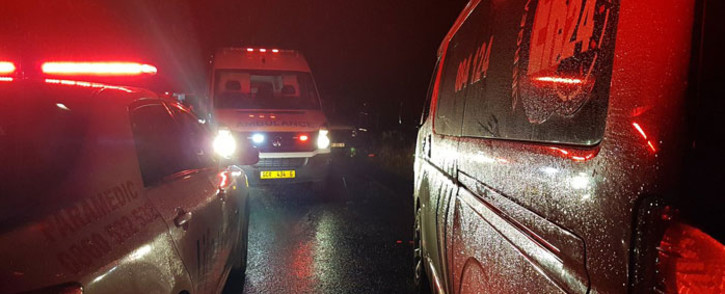 FILE: Paramedics vehicles at the scene of a crash. Picture: @LimaCharlie1/Twitter