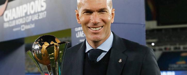 FILE: Real Madrid coach Zinedine Zidane. Picture: www.realmadrid.com.