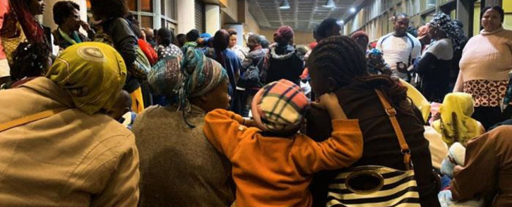 Foreign nationals pictured at the UN Refugee Agency Offices in Cape Town on 8 October 2019. The group asked the agency to help them leave South Africa. Picture: Kaylynn Palm/EWN.