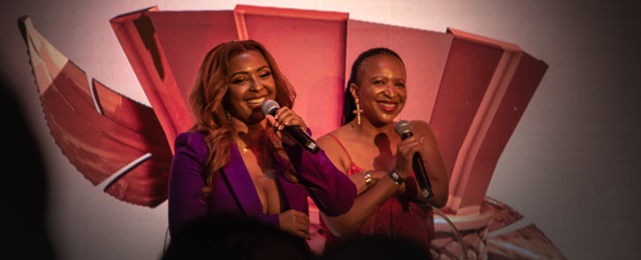 Boity Thulo and her mother Modiehi Thulo at the launch of 'Own Your Throne'. Picture: Kayleen Morgan/EWN