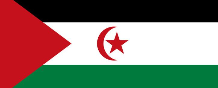 Western Sahara flag. Picture: El Uali Mustapha Sayed.