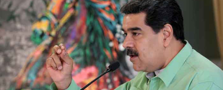 FILE: This handout picture released by the Venezuelan presidency press office shows Venezuelan President Nicolas Maduro during a meeting with doctors in Caracas, Venezuela on 21 February 2019. Picture: AFP