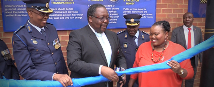 Police Minister Nkosinathi Nhleko officially opening the Yeoville police station. Picture: Kgothatso Mogale/EWN