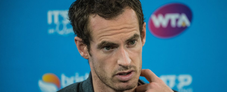Andy Murray addresses media in Brisbane following his defeat to Daniil Medvedev on 2 January 2019. Picture: @BrisbaneTennis/Twitter.