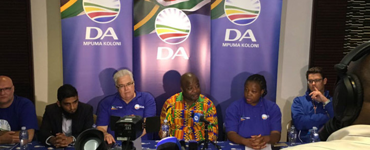 FILE: DA Eastern Cape leader Nqaba Bhanga speaks to the media. Picture: Twitter @Our_DA.
