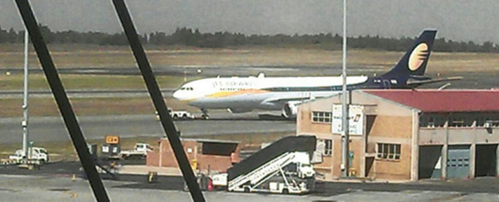 FILE: The Gupta jet, spotted at OR Tambo International Airport, on 3 May 2013. Picture: Nick Hanley/iWitness.