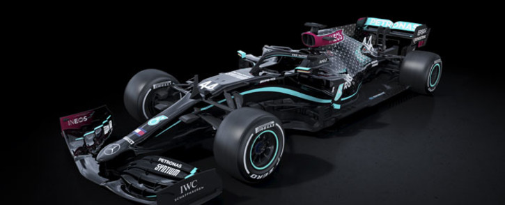 The Mercedes livery for the 2020 season. Picture: @MercedesAMGF1/Twitter