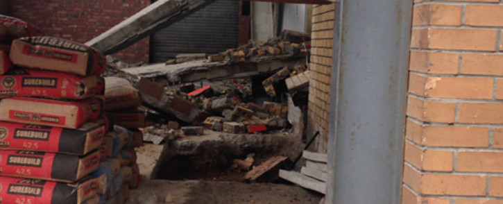 One person died after a wall collapsed in Maitland on 13 November 2013. Picture: Shamiela Fisher/EWN.
