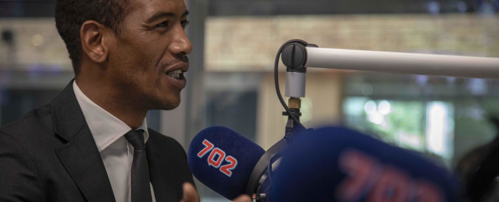 FILE: Former Springbok wing and SuperSport analyst Ashwin Willemse talks to Eusebius McKaiser in the 702 studio. Picture: Thomas Holder/EWN.