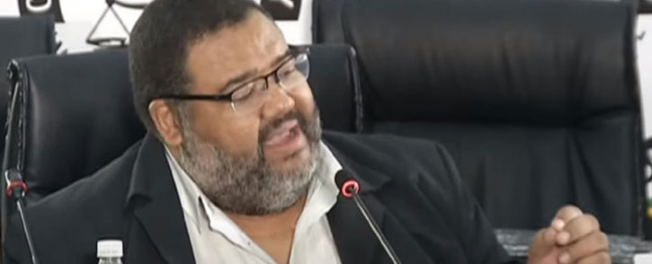 A screengrab of former Bain partner Athol Williams giving evidence at the state capture inquiry on 24 March 2021. Picture: SABC/YouTube