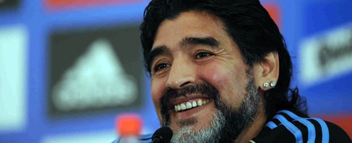 FILE: Argentine football legend Diego Maradona. Picture: Facebook.com