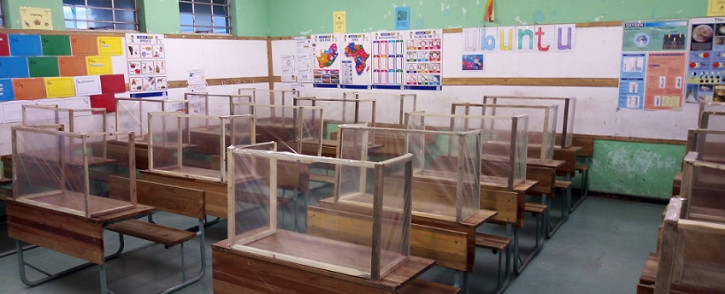 FILE: A primary school fitted with temporary COVID-19 screens. Picture: Supplied.