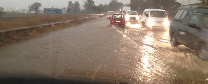 File picture: Heavy rains affect roads. Picture: iWitness