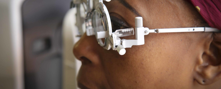 FILE: A patient taking an eye test. Picture: EWN