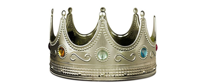 The plastic crown worn by rapper Notorius BIG during a photoshoot just days before his murder sold at auction for $594,750 in New York. Picture: Picture: @Sothebys/Twitter