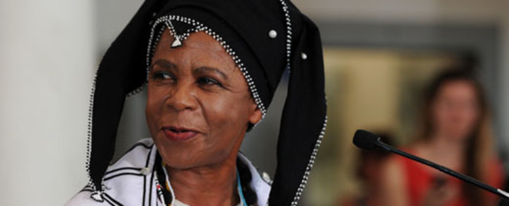 Activist and academic Mamphela Ramphele is seen at the launch of a new party political platform on Monday, 18 February 2013. Picture: Werner Beukes/SAPA.