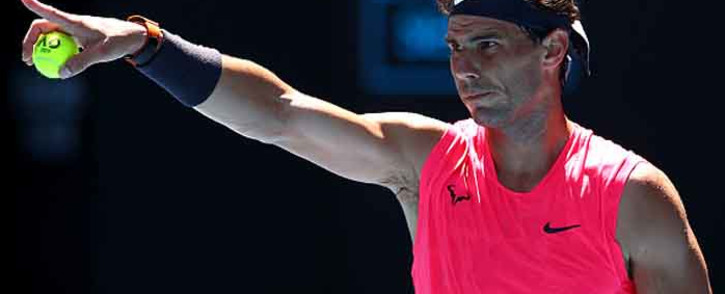 Spain's Rafael Nadal during the men's singles match on day two of the Australian Open tennis tournament in Melbourne on 21 January 2020. Picture: @AustralianOpen/Twitter
