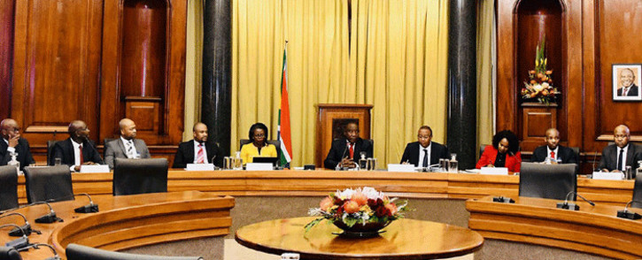 President Cyril Ramaphosa meets with the executive leadership of selected Schedule 2 and Schedule 3 state-owned companies at the Union Buildings, Tshwane on 5 June 2019. Picture: GCIS