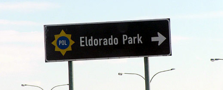 A sign to the Eldorado Park police station. Picture: Christa Eybers/EWN