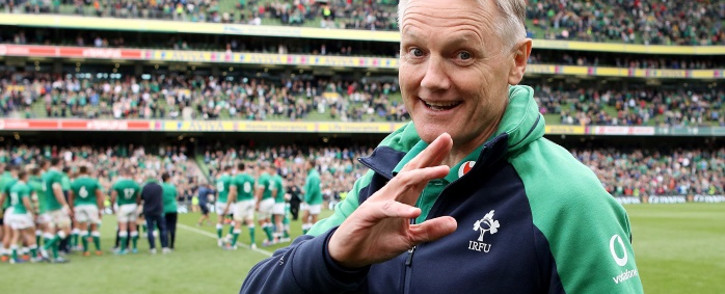 Ireland's coach Joe Schmidt gestures after the warm-up rugby union Test match between Ireland and Wales at the Aviva Stadium in Dublin on 7 September 2019. Picture: AFP