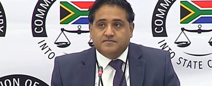 A YouTube screen grab of Deloitte auditor Chetan Chhagan Vaghela testifying at the state capture commission of inquiry on 11 June 2018. Picture: SABCDigitalNews/Youtube