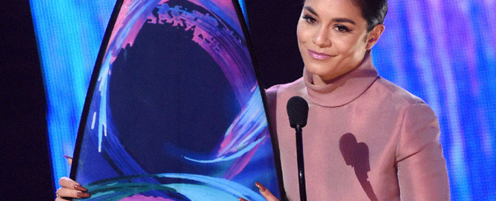 Vanessa Hudgens accepts the #SeeHer Award onstage during the Teen Choice Awards 2017 at Galen Center on 13 August 2017 in Los Angeles. Picture: AFP