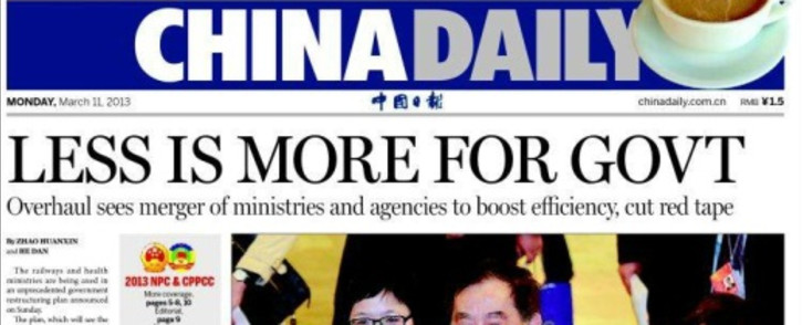 Chinese state-owned newspaper, the China Daily.