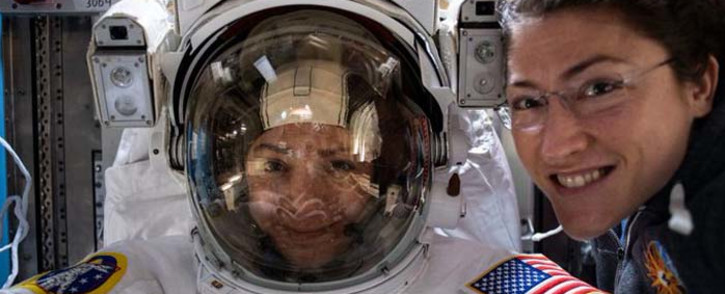 US astronauts Christina Koch and Jessica Meir became the first all-female pairing to carry out a spacewalk on 18 October 2019. Picture: @NASA/Twitter