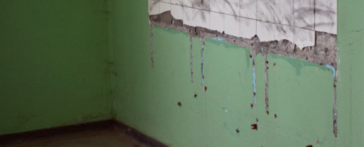 Toilets at Beacon Hill Secondary School where intruders ripped basins from the wall. Picture: Aletta Gardner/EWN