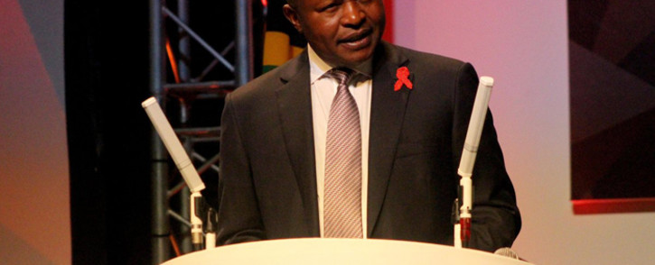 Deputy President David Mabuza delivering the closing address at the 9th South African Aids Conference at the Inkosi Albert Luthuli International Convention Centre in Durban on 14 June 2019. Picture: @PresidencyZA/Twitter.