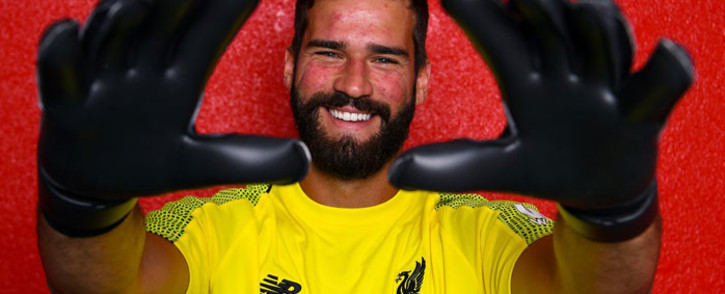 Liverpool goalkeep Alisson Becker. Picture: Twitter/@LFC