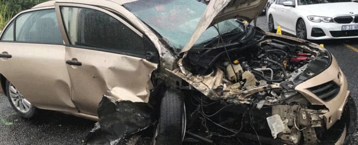 Eight people were killed in a car accident on the R34 in Vryheid, in KwaZulu-Natal, on 6 March 2021. Picture: @_ArriveAlive/Twitter.