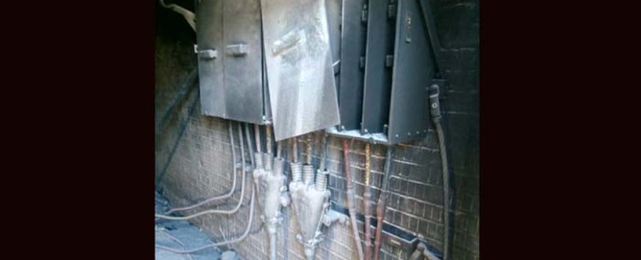 One homeless person was killed and another injured in a fire at a City Power substation near Newclare on 11 January 2019. Picture: Supplied
