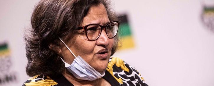 ANC deputy secretary general Jessie Duarte at a media briefing on 22 September 2021. Pictures: Abigail Javier/Eyewitness News