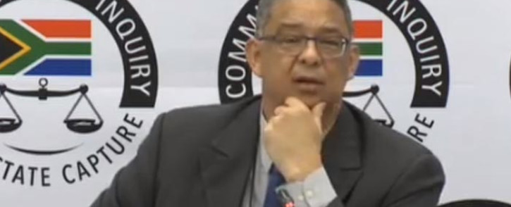 A screengrab of former Ipid head Robert McBride giving testimony at the state capture commission on 12 April 2019.