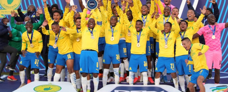 Mamelodi Sundowns solidified their DSTV Premiership championship title after beating Cape Town City 3-0 Loftus Versfeld on Saturday. Picture: Mamelodi Sundowns.