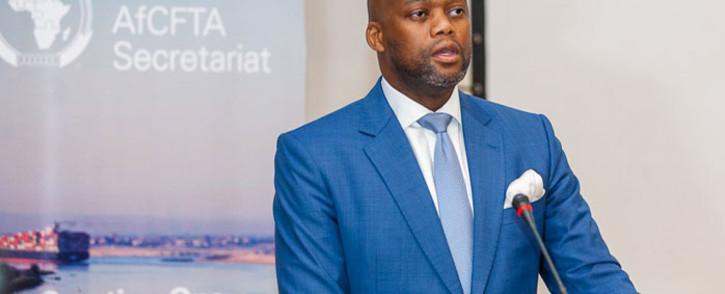 Secretary-general of the African Continental Free Trade Area (AfCFTA), Wamkele Mene. Picture: @AfCFTA/Twitter