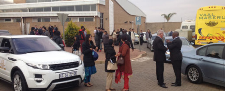 Guests arrive at the Waterkloof Air Force Base for the Gupta wedding. Picture: Barry Bateman/EWN