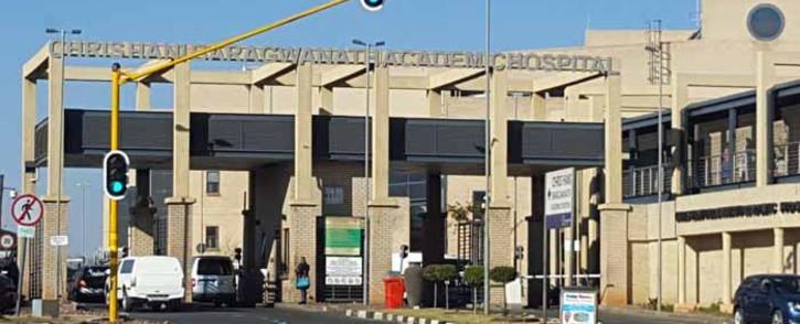 FILE: Chris Hani Baragwanath Academic Hospital entrance. Picture: EWN.