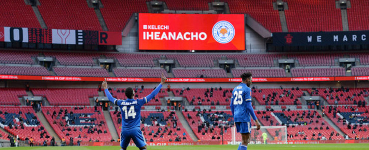 Leicester City's Kelechi Iheanacho celebrates his goal against Southampton in their FA Cup semifinal at Wembley Stadium in London on 18 April 2021. Picture: @LCFC/Twitter