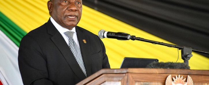 President Cyril Ramaphosa at Dr AB Xuma's funeral in the Eastern Cape on 8 March 2020. Picture: Twitter/@PresidencyZA