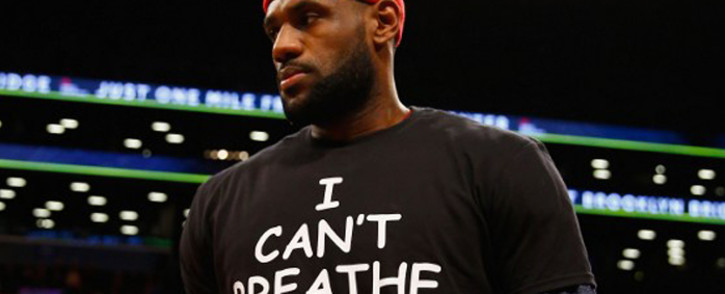 LeBron James #23 of the Cleveland Cavaliers wears an I Cant Breathe shirt during warm-ups before his game against the Brooklyn Nets during their game at the Barclays Center on 8 December, 2014 in New York City. Picture: AFP.
